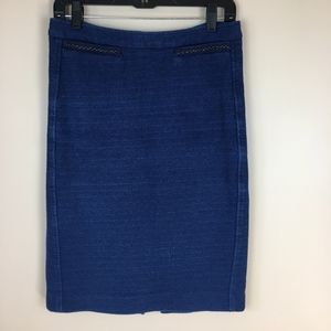 Nanette Lepore Royal Blue Knit Pencil Skirt sz 6